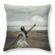 Windy Throw Pillow by Joana Kruse