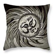 Windy Sun Throw Pillow by Chris Berry