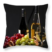 Wine And Grapes Throw Pillow by Elena Elisseeva