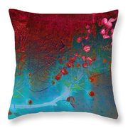 Wine and Roses Throw Pillow by Ann Powell