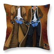 WINE AND ROSES Throw Pillow by Lance Headlee