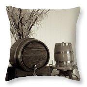 Wine Barrels Throw Pillow by Alanna DPhoto
