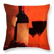 Wine Bottle  Throw Pillow by Patricia Awapara