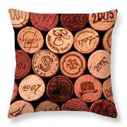 Wine corks Throw Pillow by John Stuart Webbstock