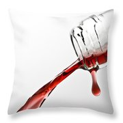 Wine Pour Throw Pillow by Frank Tschakert