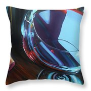 Wine Reflections Throw Pillow by Donna Tuten