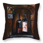 Wine Trio Throw Pillow by Danise Abbott