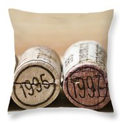 Wine Vintages Throw Pillow by Frank Tschakert