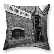 Wine Warehouse Throw Pillow by Heather Applegate