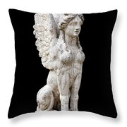 Winged Sphinx Throw Pillow by Fabrizio Troiani