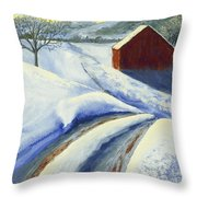 Winter Blues Throw Pillow by Garry McMichael