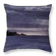 Winter Blues Throw Pillow by Thomas Young