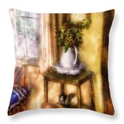 Winter - Christmas - Early Christmas Morning Throw Pillow by Mike Savad