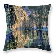 Winter Falls Throw Pillow by Bill Gallagher