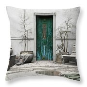 Winter Garden Throw Pillow by Cynthia Decker