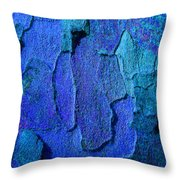 Winter London Plane Tree Abstract 4 Throw Pillow by Margaret Saheed