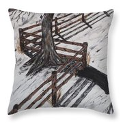 Winter Moon Shadow Throw Pillow by Jeffrey Koss