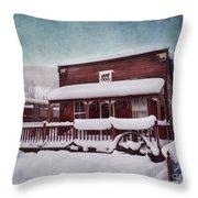 Winter Sleep Throw Pillow by Priska Wettstein