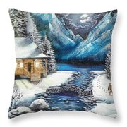 Winter Solstice Throw Pillow by Kevin F Heuman