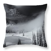 Winter Storm Clears Throw Pillow by Mike  Dawson