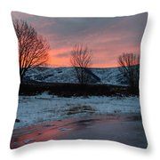 Winter Sunrise Throw Pillow by Chad Dutson