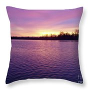 Winter Sunrise Throw Pillow by JOHN TELFER