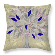 Winter Tree Throw Pillow by Barbara Moignard