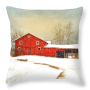 Winters Morning Throw Pillow by Mary Timman