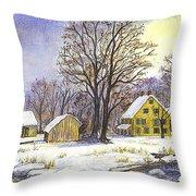 Wintertime In The Country Throw Pillow by Carol Wisniewski