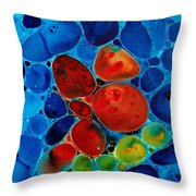 Wishing Stones Throw Pillow by Sharon Cummings