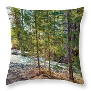 Wolf Creek Stretching Out Throw Pillow by Omaste Witkowski