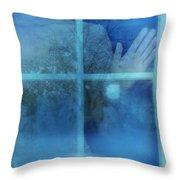 Woman At A Window Throw Pillow by Jill Battaglia
