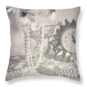 Womans Dressing Table Throw Pillow by Amanda And Christopher Elwell