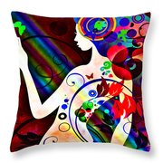 Wonder At The End Of The Rainbow Throw Pillow by Angelina Vick