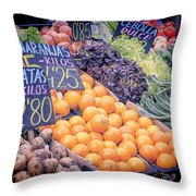 Wonderful in Any Language Throw Pillow by Joan Carroll