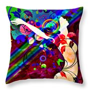 Wondrous At The End Of The Rainbow Throw Pillow by Angelina Vick