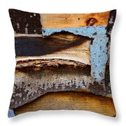 Wood Eagle Totem Throw Pillow by Lauren Leigh Hunter Fine Art Photography