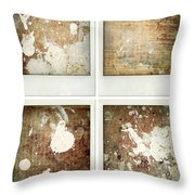 Wood Throw Pillow by Les Cunliffe