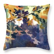 Wood Song Throw Pillow by Kris Parins