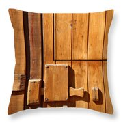 Wooden Door Detail Throw Pillow by Carlos Caetano