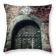Wooden Gate Throw Pillow by Joana Kruse