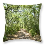 Woodland Path Throw Pillow by Glennis Siverson