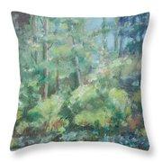 Woodland Pond Throw Pillow by Sarah Parks
