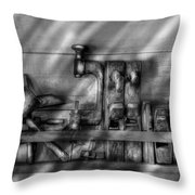 Woodworker - Wood Working Tools Throw Pillow by Mike Savad
