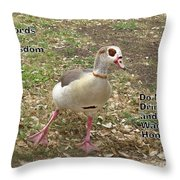 Words of Wisdom - Do Not Drink And Throw Pillow by Ella Kaye Dickey