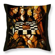World Chess   Throw Pillow by Dalgis Edelson