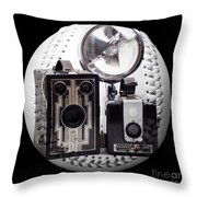 World Travelers Baseball Square Throw Pillow by Andee Design