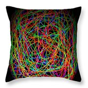 World Web Throw Pillow by Aidan Moran