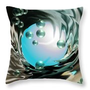 Worlds Apart Throw Pillow by Cheryl Young