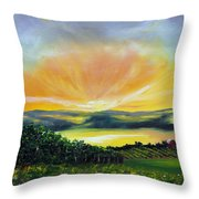 Wrapped In Light Throw Pillow by Meaghan Troup